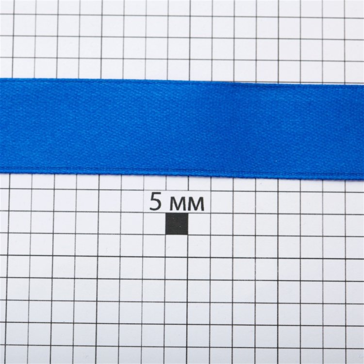 Лента атласная 20 мм синяя