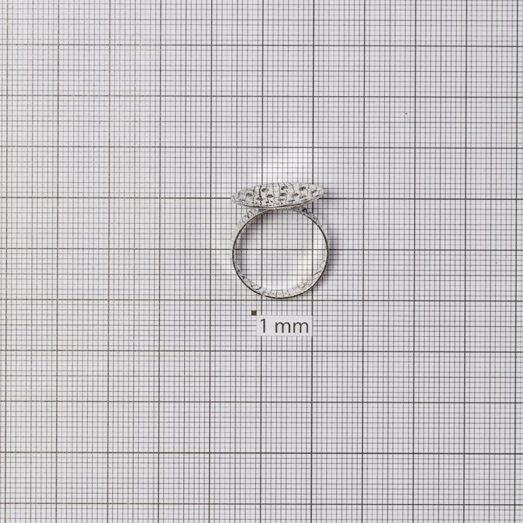 Основы для колец. Серебристый. Диаметр 18 мм.