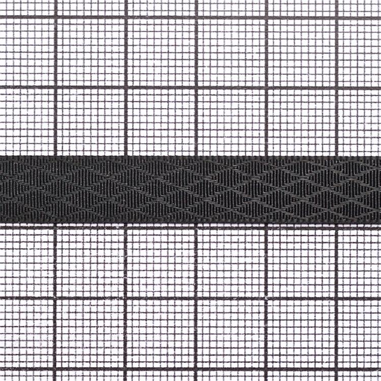 Стрічка атласна 10 мм ромбовидна чорна