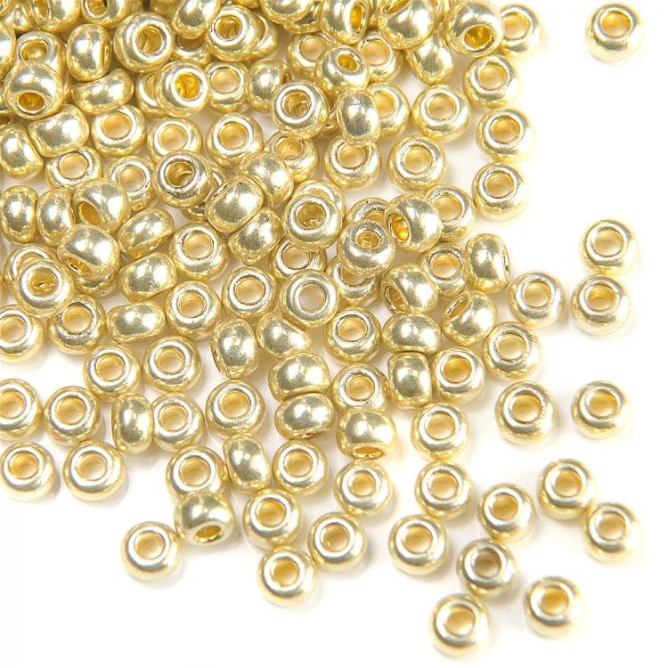 18181 чешский бисер Preciosa 5г  золотой