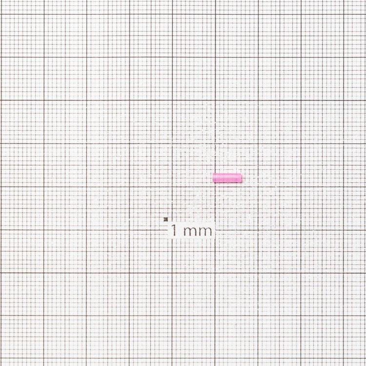 Бисер-стеклярус ярко-розовый 7 мм