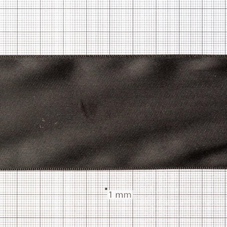 Лента атласная 50 мм черная