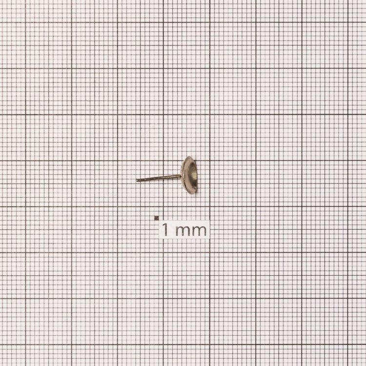 Основа для серег гвоздик 7 мм мельхиоровая
