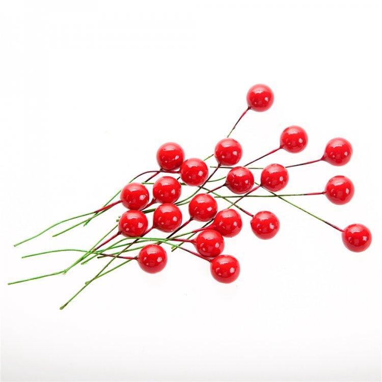 Декор Тёмно-вишнёвые ягодки, 12 мм. Цена за 1 ягодку.