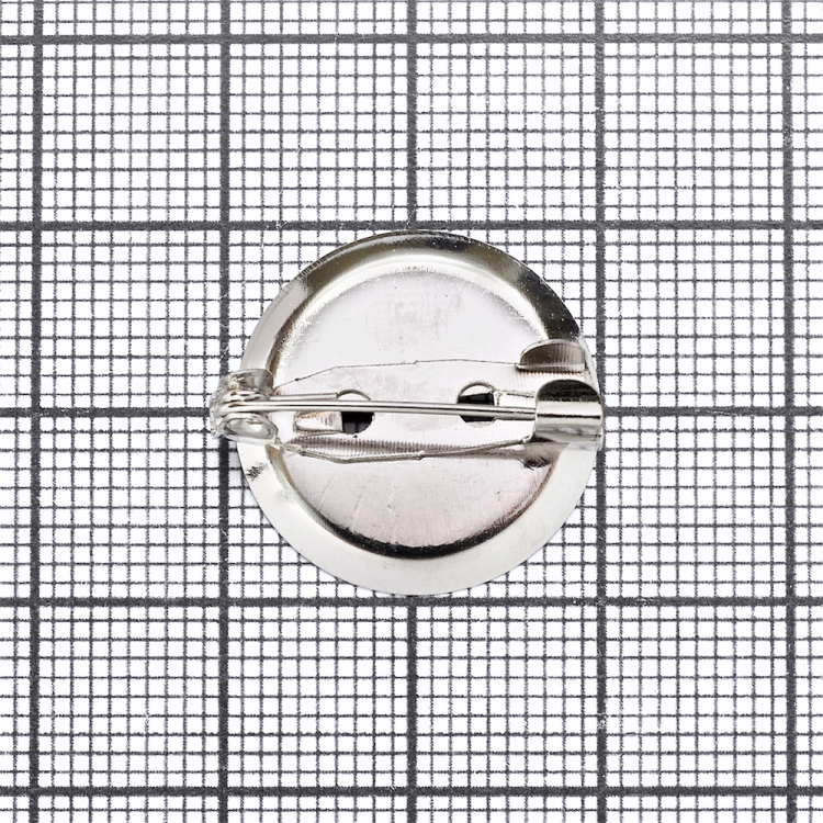Основа для брошки кругла клейова, мельхіор, 20 мм