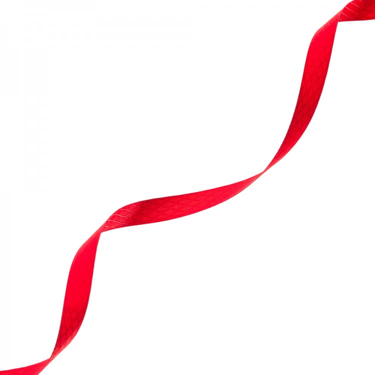 Стрічка атласна 10 мм ромбовидна червона