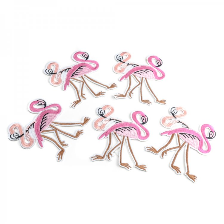 Тканевая нашивка Пара фламинго