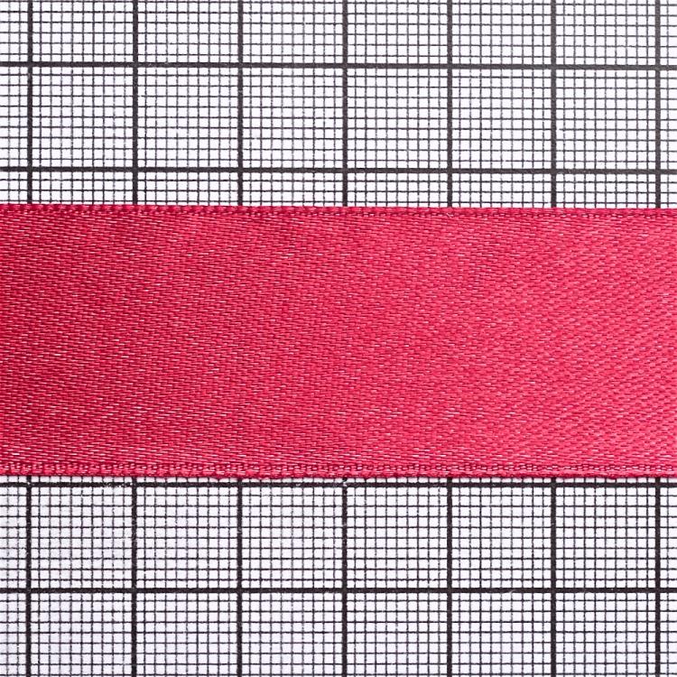 Стрічка атласна 25 мм малинова