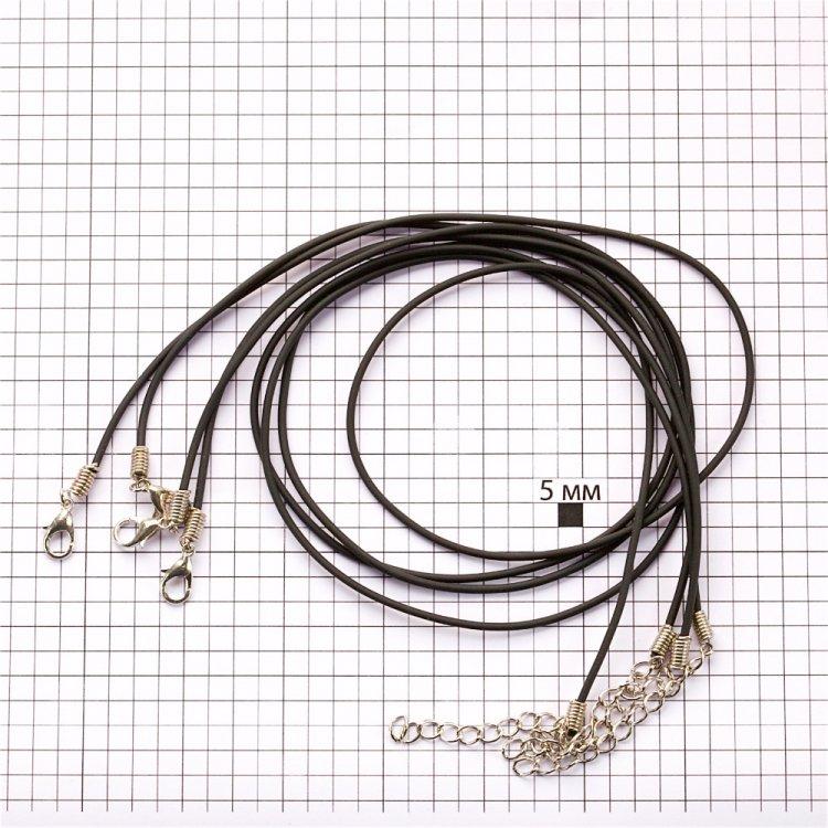 Основа для кулона, полівінілхлорид, 1,5 мм, чорний