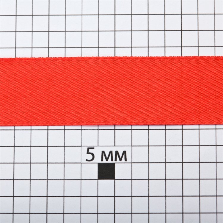 Лента атласная 20 мм красная