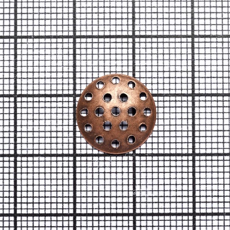 Решетчатые основы для брошей, медь, 14 мм