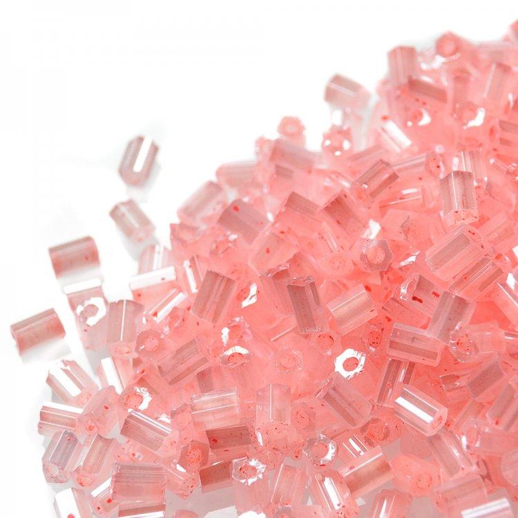 Бисер-рубка розовый сольгель 2.1 мм стекло