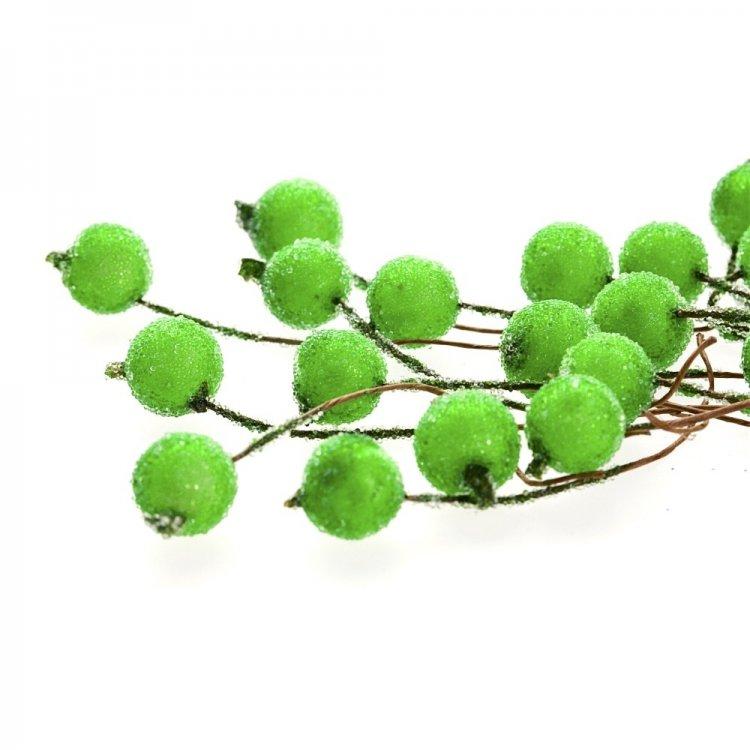 Декор Зелёные бусины на проволоке