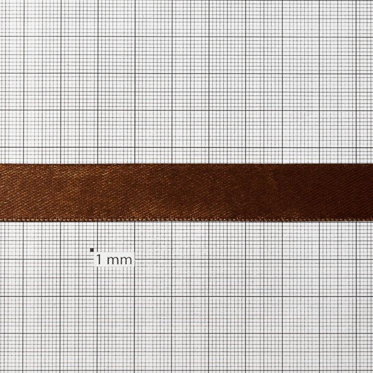 Стрічка атласна 14 мм коричнева