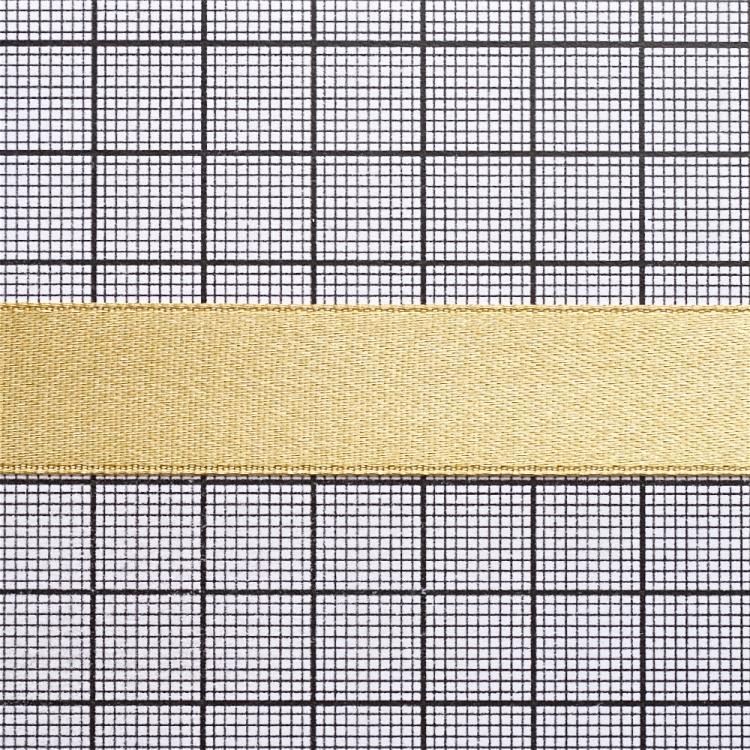 Стрічка атласна 14 мм темно піщана