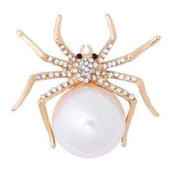 Брошка Павук з перлиною