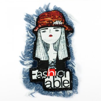 Тканевая нашивка Девочка Fashionable