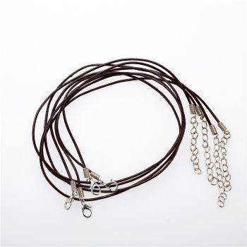 Основа для ожерелья коричневая кожзам 1,5 мм