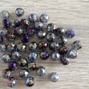 Хрустальная бусина круглая 8 мм фиолетовая