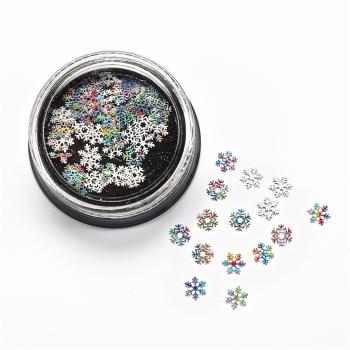 Металлические блестки (в уп90шт) Снежинки микс цветов