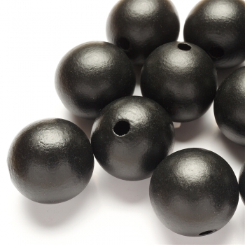 Дерев'яна намистина 30 мм чорна