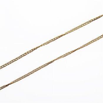 Ланцюг бронзового кольору дрібний панцирний подвійний 3х4х0,6 мм