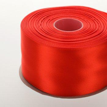 Атласна стрічка. Червоний. 50 мм