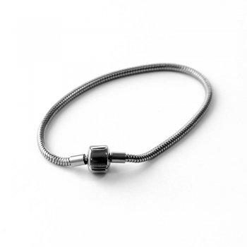 Основа для браслету шарм з круглим замком LUX 190 мм мельхіорова