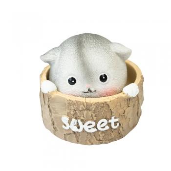 Декоративный элемент кот на пружине