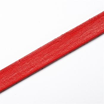 Стрічка з пресованої шкіри 10 мм червона