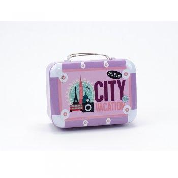 Коробочка жерстяна у вигляді валізки It's Fun City Vacation