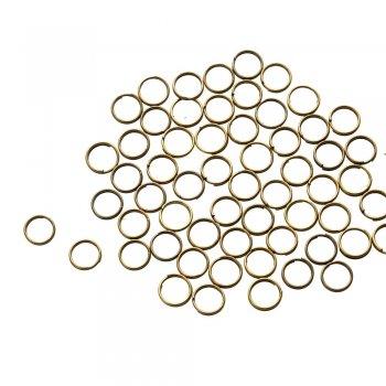 Бижутерные колечки два витка, бронза, 8 мм