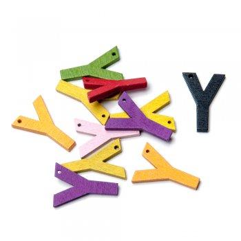 Підвіски дерев'яні, буква Y