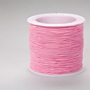 Шнур-резинка розовый текстиль 0,6 мм