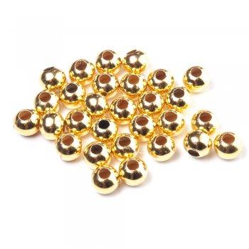 Металлические литые бусины. Золотой. Размер 12 мм.