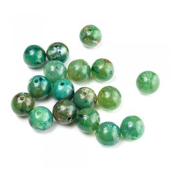 Шар малый. Пластик под камень прозрачный зеленый