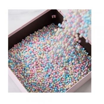 Наполнитель для подарков пенопластовые шарики разноцветные (уп0,010кг)