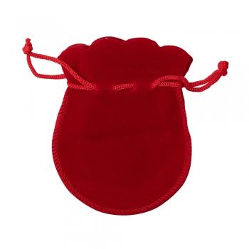 Декоративний мішечок оксамитовий 9,5х7,5 см червоний