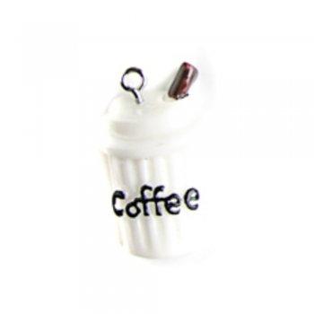 Кава біла. Підвіски з полімерної глини мікс кольорів солодощі