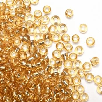 Бисер круглый, мелкий, золотой. Калибр 12 (1,8 мм)