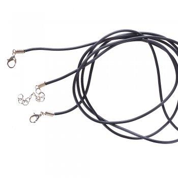 Основа для кулона, полівінілхлорид, 2 мм, чорний