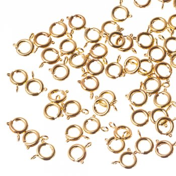 Карабин круглый золотой,  диаметр 9 мм