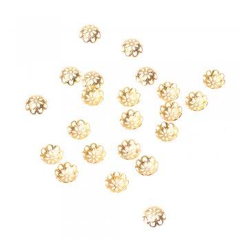 Обіймачі ажурні золото 12 мм