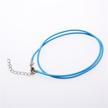 Вощеный шнур - готовая основа для украшений синий