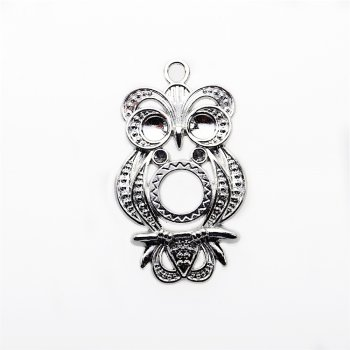 Кулон металлический сова ажурная