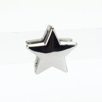 Бусина слайдер Звезда мельхиоровая