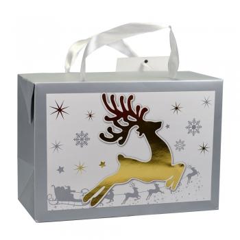 Пакет-коробка картонна 23х16х11 см