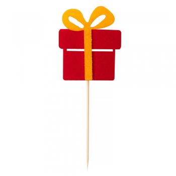 Декоративний елемент на паличці Подарунок