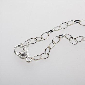 Цепь с застежкой для браслета серебро