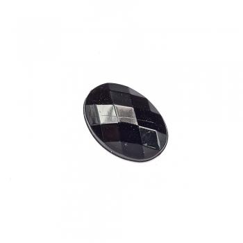 Стрази клейові пластикові 13х10 мм чорні уп. 10шт